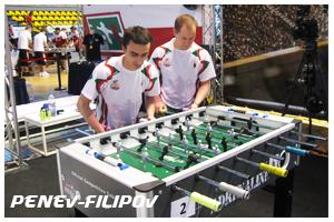 пенев и филипов - състезатели по футбол на маса за джагоарите